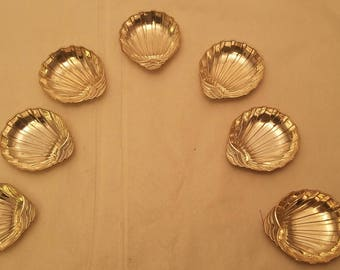 Set of Six Sterling Shell Form Mint / Candy dish