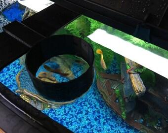 Custom Fish Feeder Ring for Aqueon 36 Gallon Bowfront Tank 3D Printed