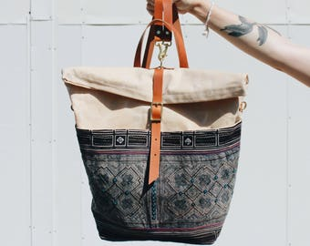 Indigo Batik Backpack/Messenger