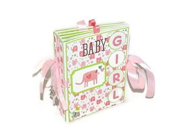 Baby girl scrapbook album, Baby scrapbook, Baby photo journal, Girl photo scrapbook premade, Baby memory book, Baby shower gift, Scrapbook