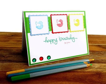 Happy birthday to you card for children, Childrens happy birthday card, Cute bird happy birthday card for kids, Birthday card for children