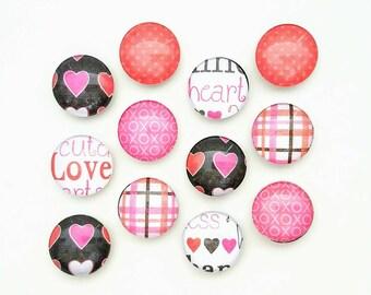 Valentine's Day Magnets - Kids Valentine - Refrigerator Magnets - Valentine Gift for Her - Valentine Decor - Heart Magnets - Teacher Gift