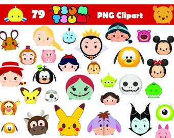 Instand DL - 79 Tsum Tsum Clipart Printable Digital Clipart Graphic Instant Download