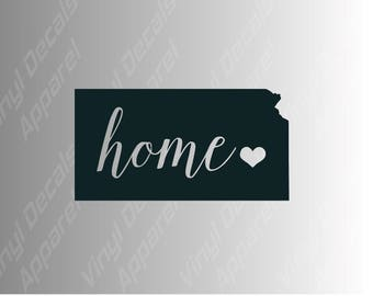 Kansas home state die cut vinyl decal sticker for car, laptop, yeti decal, etc..