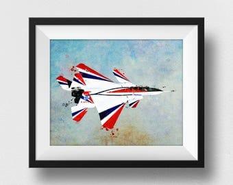 NASA Poster, NASA Plane Print, Airplane Decor, Airplane Wall Art, Kids Room Decorations, Watercolour Plane Art, Aircraft Art Print (N316)