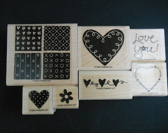 Loving Hearts Retired Stampin' Up set of 7
