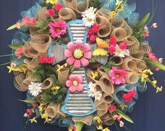Everyday Wreath for Front Door, Spring Door Decor, Spring Decor, Spring Wreath, Spring Wreath for Front Door