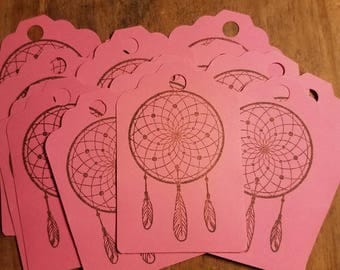 Dream Catcher Stamped Gift Tags