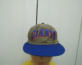 Rare Vintage NEW YORK GIANTS Embroidered Cap Hat Free size fit all