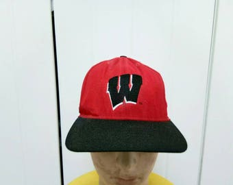 Rare Vintage 94' Rose Bowl WISCONSIN BADGERS Cap Hat Free Size Fit All