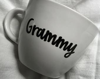 Grammy mug • gift for her • grandma • grandparent gift • hand painted mug • 16 oz mug • coffee mug • gift •
