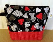 Valentines Project Bag, Sock Knitting Bag, Knitting Project Bag, Llama Knitting Tote Bag, Crochet Project Bag, Yarn Bowl, Knitting Bowl