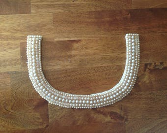 Faux Pearl Collar - Champagne Colored Pearls - Vintage 1950's Fashion