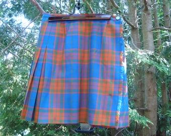 Vintage Kilt // Wool Skirt // Made in Canada // School Uniform // Tartan // Plaid // Retro // Unconventional // 60's Fashion