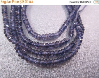 ON SALE 15% OFF Iolite Faceted Roundel 3mm Beads 208pcs