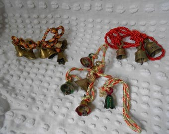 Your Choice of 4 Sets of Vintage Christmas Bells - Vintage Christmas Sarna Bells - Bells from India - Read to Ship
