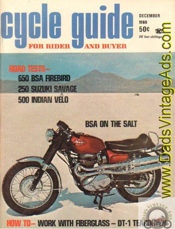 1969 December Cycle Guide Motorcycle Magazine Back Issue #6912cg