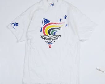 1996 USA Paddling For The Gold Size L, 1996 Atlanta Olympics Tee