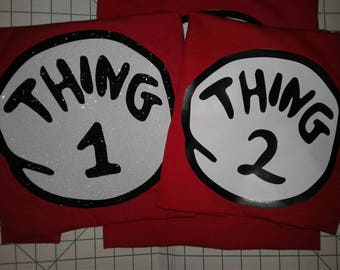 Red Thing 1 /Thing One/Thing Two/Thing Three/Thing Four/Dr Suess/
