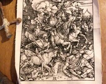 Four horsemen after Dürer / / Backpatch