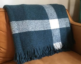 Handwoven Wool Blanket Throw