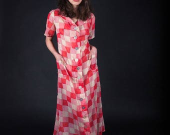 1920s organdy sheer dress ART DECO