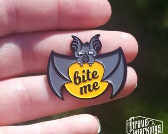 Bite Me Enamel Pin