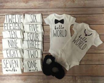 Hello world twin set