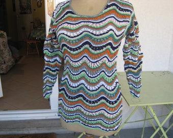 multicolored sweater hand knit