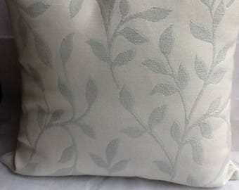 Shabby chic cushion cover in duck egg blue Savannah fabric from john Lewis