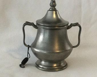 Vintage FAIB Peltro Pewter Two Handled Sugar Bowl