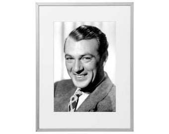 Gary Cooper custom framed and mounted print 30 x 40 cm   12 x 16 inches   Art Poster Wall Artwork Décor  2