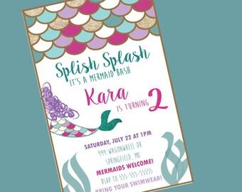 Mermaid Bash Invitation