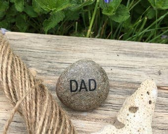 Father's Day Gift- personalised pebble- gift for him- painted pebble