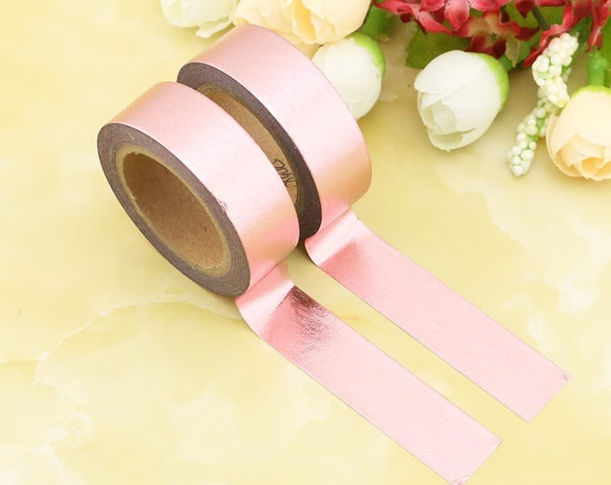 Rose gold foil Washi Tape - Solid rose gold washi Tape -  Washi Tape - Paper Tape - Planner Washi Tape - Washi - Decorative Tape - rose gold