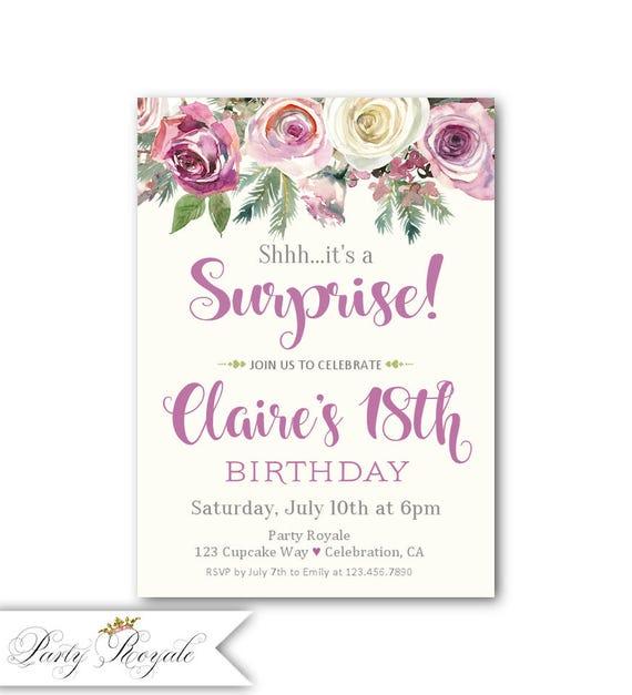 Invitaciones de fiesta sorpresa para chicas adolescentes 18 - Sorpresas para fiestas ...