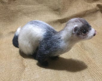 Needle Felted Wool Ferret