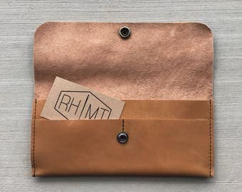 Leather wallet, handcrafted leather wallet, brown wallet, womens wallet