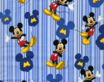 "1/2 yard,M is for mickey allover by Springs Creative fabric, By the Half Yard, 42"" wide, 100% cotton"