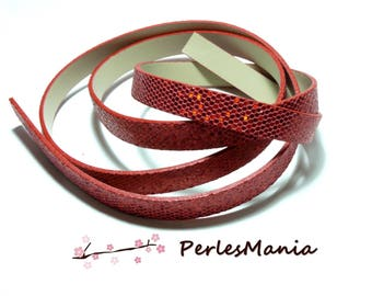 90cm flat cord faux leather Paillette sequins Red 10 mm ref23
