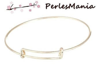1 stand 22cm (S1160389) ROSE gold expandable Bangle bracelet