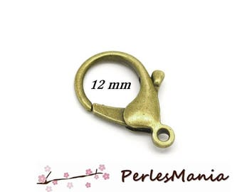 20 lobster clasp 12mm BRONZE
