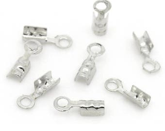 Set of 100 caps for 7mm x 2 mm cords