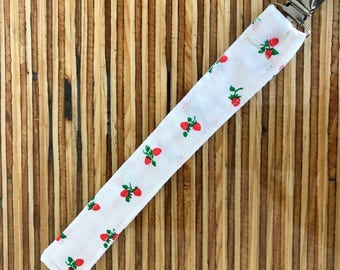 Strawberry Pacifier Clip // Strawberry Paci Clip // Strawberry Binky Clip