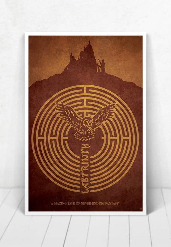 Labyrinth Movie Poster - Illustration / Labyrinth Movie Poster/ Labyrinth/ David Bowie