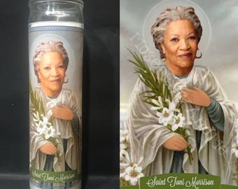 Toni Morrison Devotional Prayer Saint Candle
