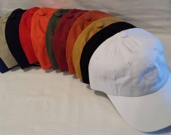 12 Custom Embroidered Hats / Custom Hat /  Personalized Hat / Custom Text / Custom Embroidery / Personalized Embroidery / Custom Cap