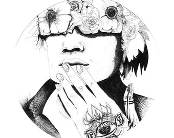 Lee-Warrior Moon-art digital print limited
