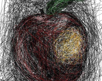 Apple Scribble [PRINT]