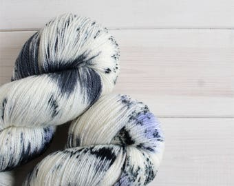 Winter is Coming - Game of Thrones themed hand dyed yarn - lace weight - 100g -merino wool - Stark